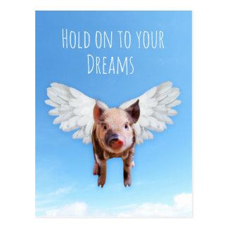 Los cerdos pudieron volar postal