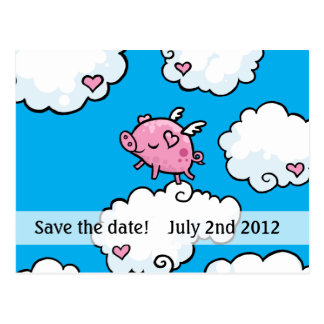 los cerdos vuelan para ahorrar la postal de la