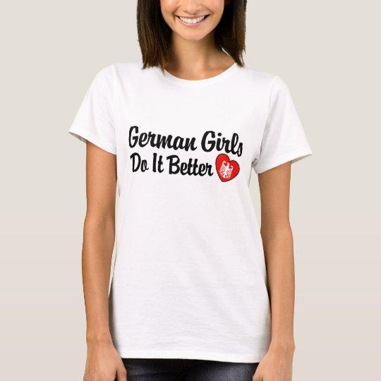 Los chicas alemanes mejora camiseta