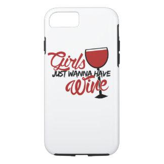 Los chicas apenas quieren comer vino funda iPhone 7