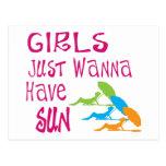 Los chicas apenas quieren tener Sun Postales