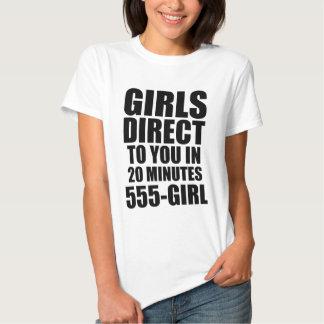 Los chicas dirigen camiseta