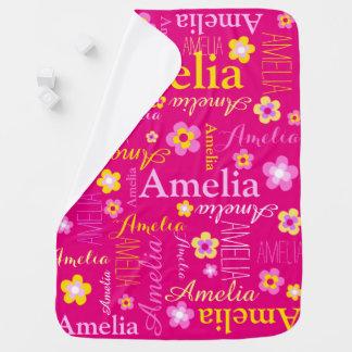 Los chicas gráficos de la flor del texto de Amelia Mantita Para Bebé