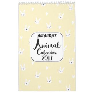 Los chicas personalizaron el calendario lindo de