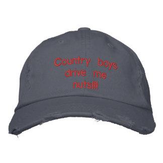 Los chicos del campo me conducen nuts gorra de beisbol bordada