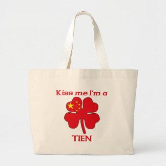 Los chinos personalizados me besan que soy Tien Bolsa Lienzo