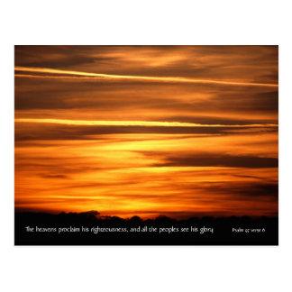 Los cielos declaran del salmo 97 v 6 del | v2 postal