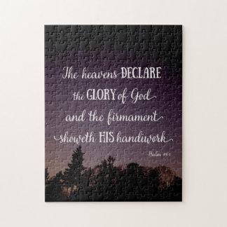 Los cielos declaran la gloria de dios puzzle