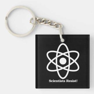 Los científicos se oponen - símbolo de la ciencia llavero