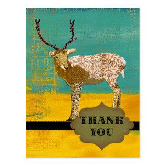 Los ciervos adornados del trullo de oro le agradec tarjetas postales