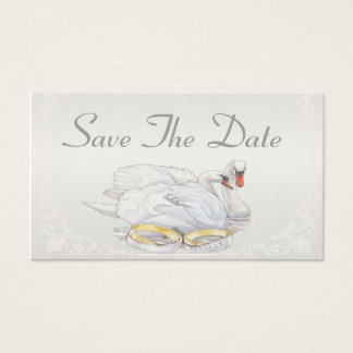 Los cisnes - ahorre la tarjeta de fecha