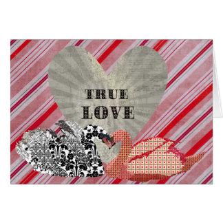 Los cisnes ostentosos verdad amor tarjeta de felicitación