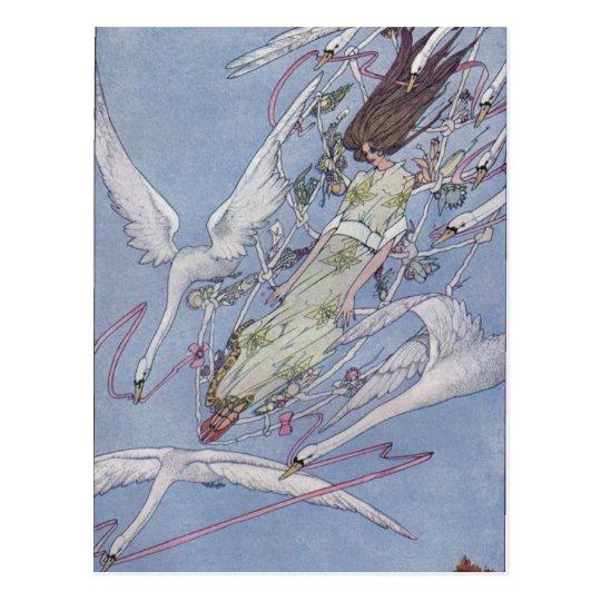 Los cisnes salvajes postal