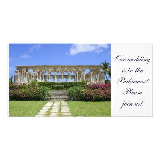 Los claustros, isla del paraíso, Bahamas Tarjetas Fotográficas Personalizadas