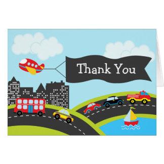 Los coches y los camiones le agradecen cardar tarjeta