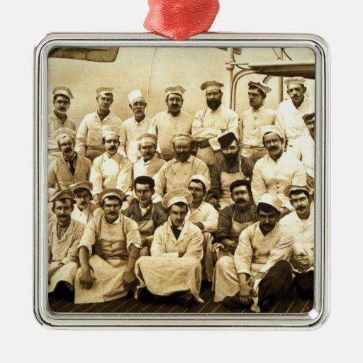 Los cocineros de la nave a bordo del R.M.S. Teuton Ornamentos De Reyes