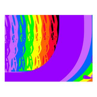 Los colores abstractos del arco iris diseñaron la postal