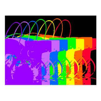 Los colores abstractos del arco iris diseñaron la  tarjetas postales