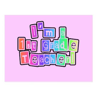 Los colores brillantes soy 1r profesor del grado postal