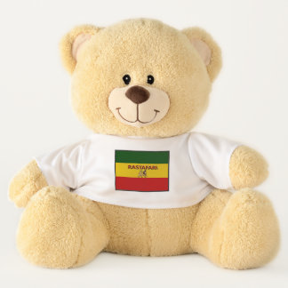 Los colores de Rastafarian cupieron el oso de
