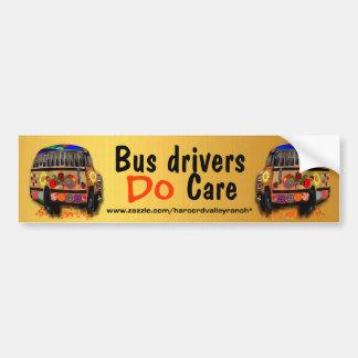 Los conductores del autobús cuidan pegatina para coche