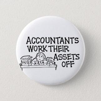 Los contables trabajan sus activos apagado chapa redonda de 5 cm