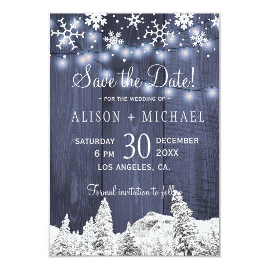 Los copos de nieve de madera de las luces de la invitación 8,9 x 12,7 cm