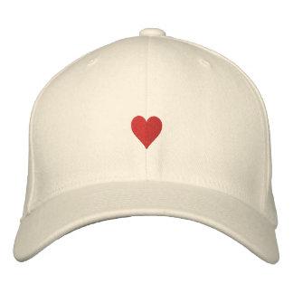 Los corazones bordaron el gorra gorra de beisbol bordada