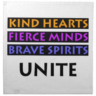 Los corazones buenos, mentes feroces, las bebidas servilleta de tela