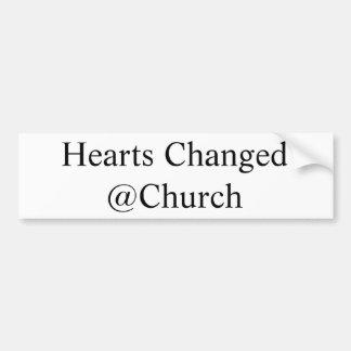 Los corazones cambiaron al pegatina del @Church