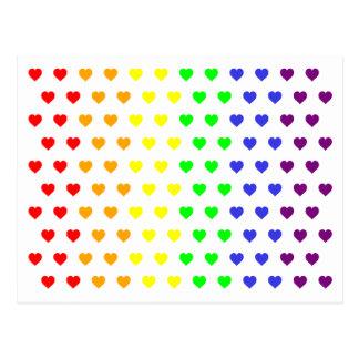 Los corazones del arco iris ahorran la postal de