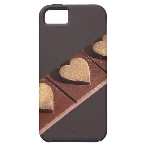 Los corazones del chocolate ahorran la fecha iPhone 5 Case-Mate cárcasas
