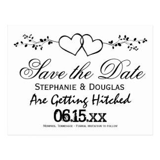 Los corazones dobles ahorran las postales de la