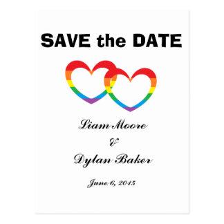 """Los """"corazones dobles del arco iris"""" ahorran las postal"""
