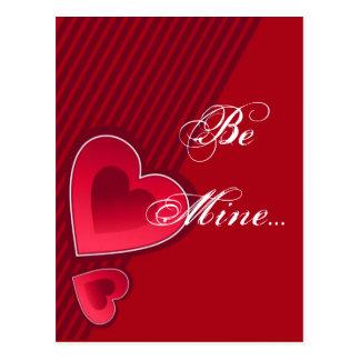 Los corazones dobles sean los míos tarjeta postal