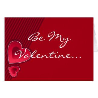 Los corazones dobles sean mi tarjeta del día de