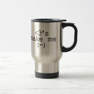 Los corazones me hacen los regalos felices del taza térmica