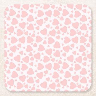 los corazones palidecen Pinkcute Posavasos Cuadrado De Papel
