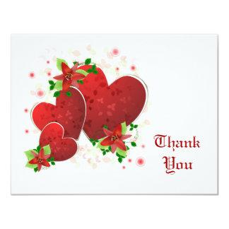 Los corazones románticos rojos le agradecen cardar comunicado personal