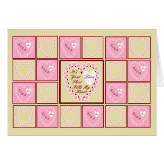 Los corazones rosados, es su tarjeta del día de Sa