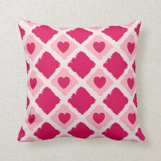 Los corazones rosados N bloquean la almohada