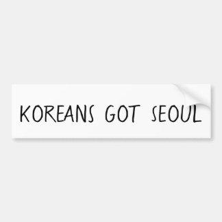 Los coreanos consiguieron a la pegatina para el