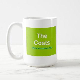 Los Costos - los costes Taza Básica Blanca