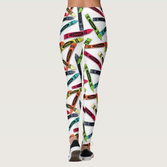 Los creyones del colorante, usted modifica las leggings