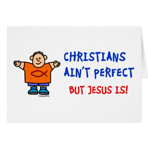 Los cristianos no son perfectos tarjetas