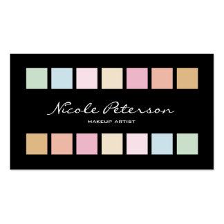 los cuadrados multan colores en colores pastel tarjetas de visita