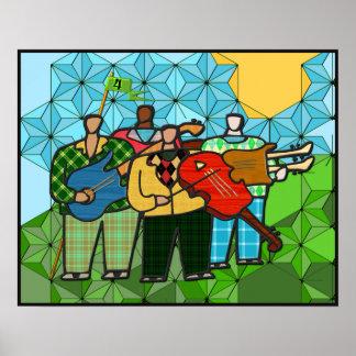 Los cuatro Duffers (poster de la bella arte) Póster