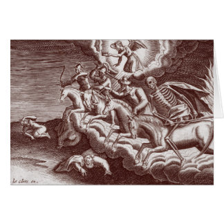 Los cuatro jinetes de la apocalipsis - tarjeta