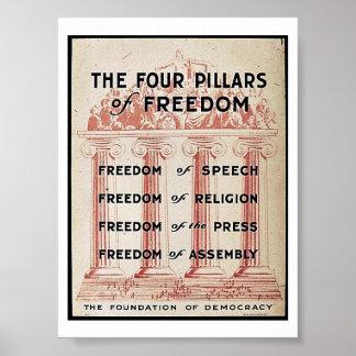 Los cuatro pilares de la libertad póster