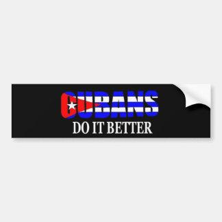 los cubanos mejora pegatina de parachoque